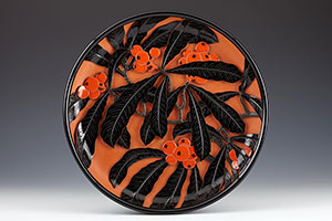 Carved Lacquer Tray by Tsuishu Yozei XX (Price on Request)